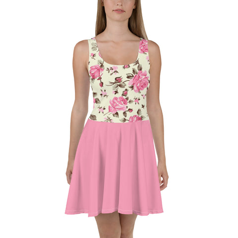 Pink Roses - Women´s Floral Mini Dress - KICKI´S SHOP