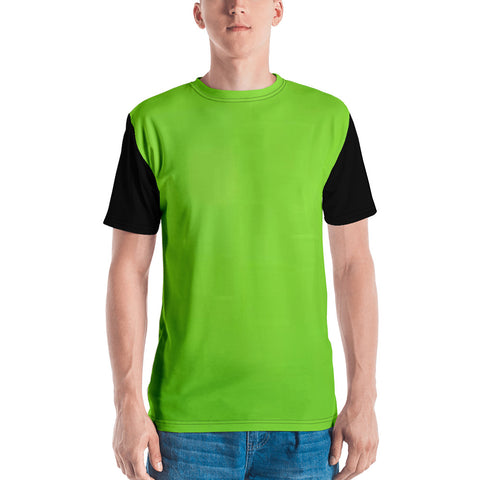 Lime And Black All Over - Men's T-Shirt - KICKI´S SHOP