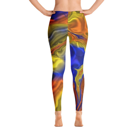Blue And Yellow Mirror All-Over - Women´s Leggings - KICKI´S SHOP