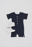 BUTTON PLAYSUIT - NAVY SLEEVED - Flynn Jaxon