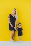 ADULT T-SHIRT DRESS - BLACK GOLD - Flynn Jaxon