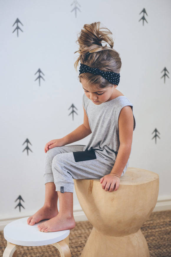 ROMPER - DAKOTA ORIGINAL (Light Grey Cropped) - Flynn Jaxon