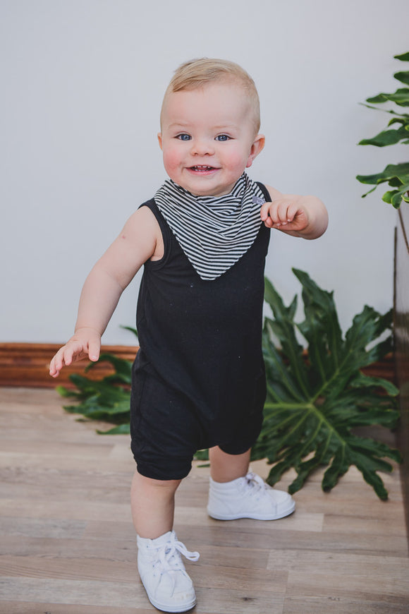 ROMPER - BOBBY (Black Cropped)