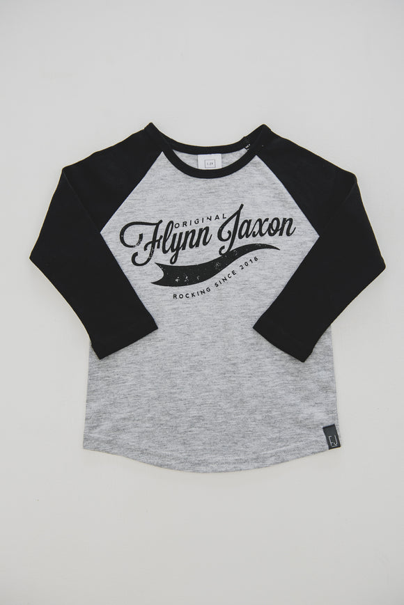 TEE - BASEBALL (Black+Grey) - Flynn Jaxon