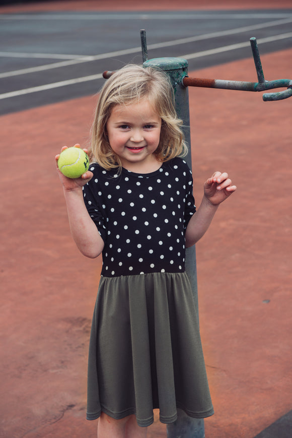 EVERYDAY DRESS - OLIVE DOTTY - Flynn Jaxon