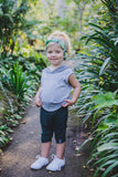 HEADBAND - JUNGLE (Navy+Turquoise Print) - Flynn Jaxon