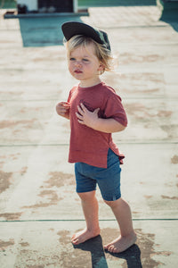 BIKER SHORTS - DENIM BLUE - Flynn Jaxon