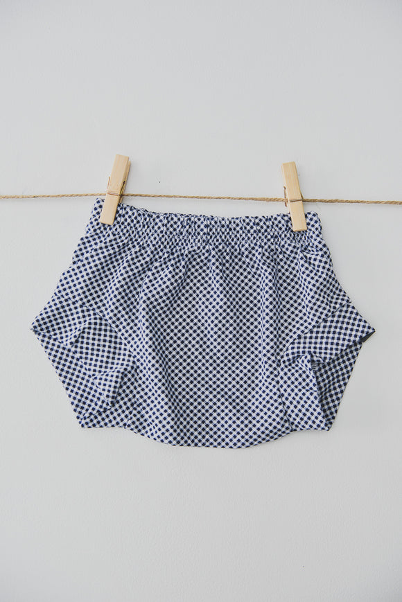 SHORTIE - TOTO (Navy+White Gingham)