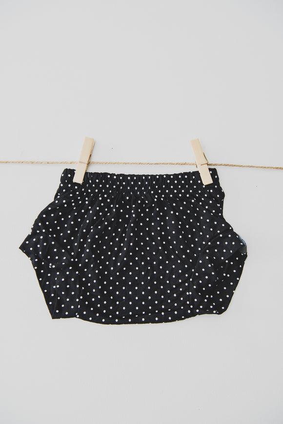 SHORTIE - KIRA (Black+White Polka Dot)