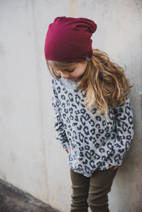 SLOUCHY BEANIE - BILLIE (Burgundy)