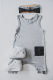 ROMPER - DAKOTA ORIGINAL (Light Grey Full-Length)