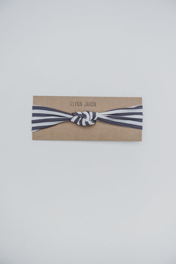 HEADBAND - RYLIN (Grey+White Stripe) - Flynn Jaxon