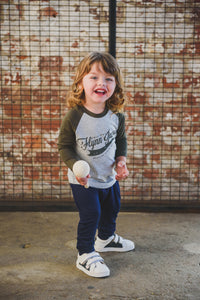 TEE - BASEBALL (Green+Grey)