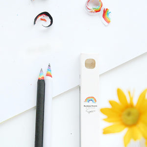 FREE! Black and  White Rainbow Pencil