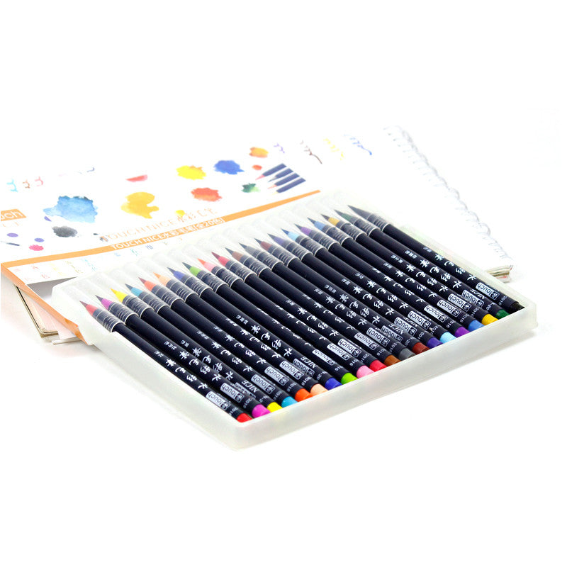 20 Colors Watercolor Brush Set