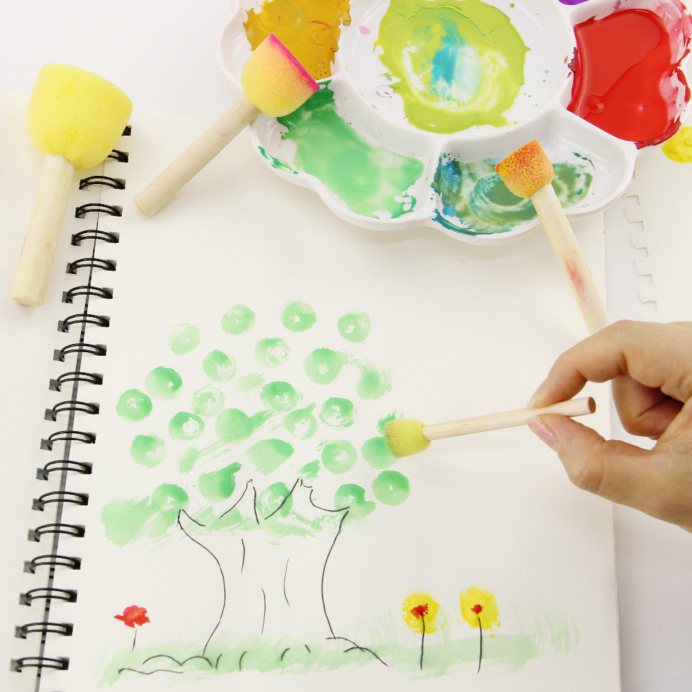 Kid Sponge Paint Brush Set