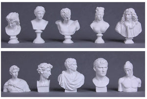 Famous Statues Miniatures. Sketching Practice.