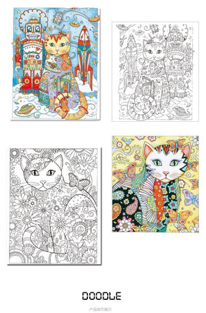 Creative Cats Coloring Book