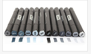 Gray Colours Markers - 12 Set