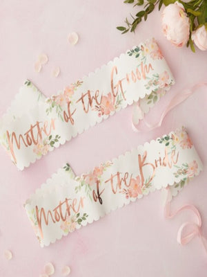 Mother Of The Bride And Groom Hen Party Sashes