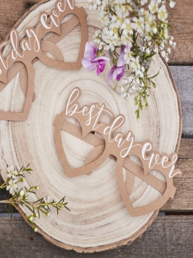 Best Day Ever Glasses - Rustic Country