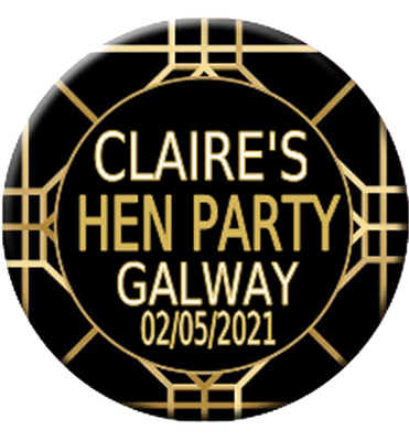 1920's Flapper Theme Personalised Badge