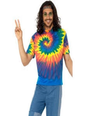 1960s Tie Dye T-Shirt, Multi-Coloured