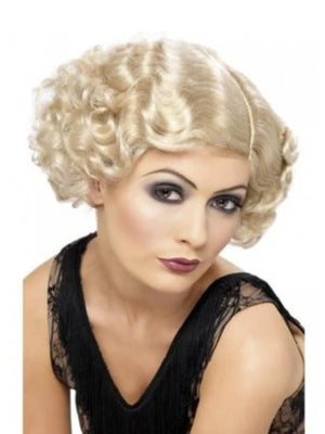 20's flirty Flapper Blonde wig