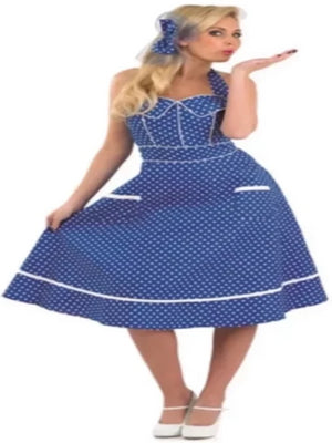 50s Blue Dress Costume