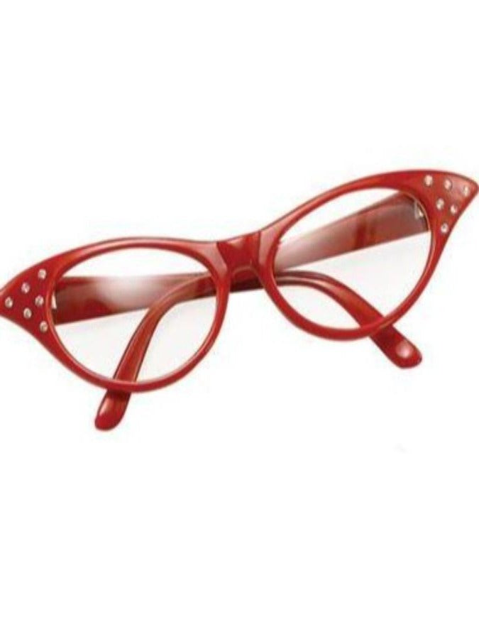 50's Red Glasses