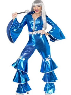 70's Dancing Queen Jumpsuit Blue Costume