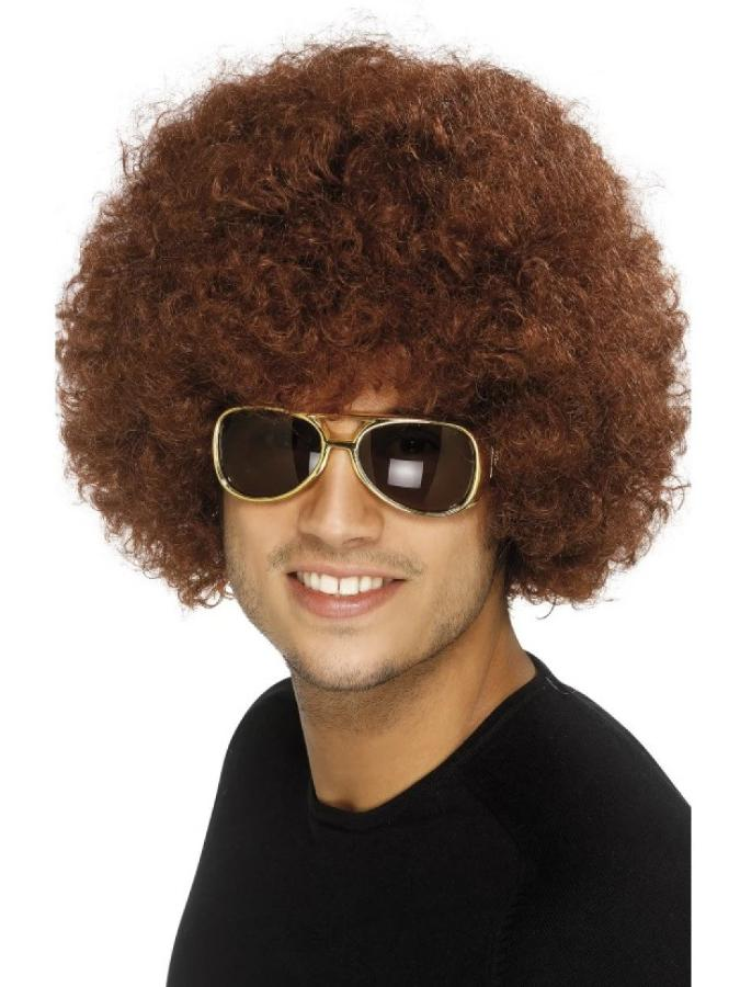 70s Funky Afro Brown Wig