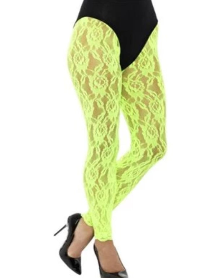 80's lace Green Leggings