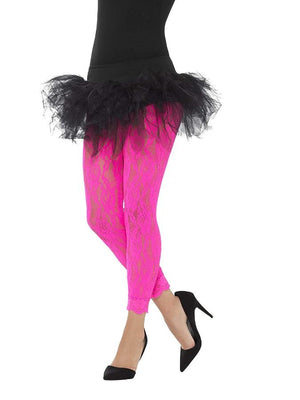 80's Lace Leggings Pink