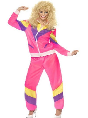 80'S Height Of Fashion Shell Suit Costume, Pink Costume