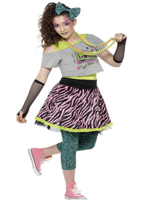 80's Wild Child Costume, Multi-Coloured