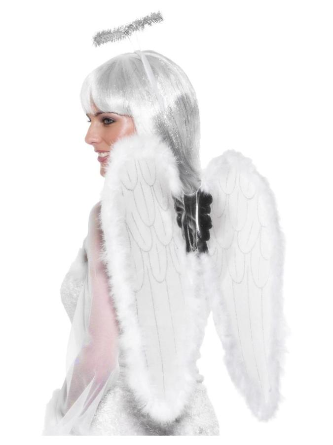Angel Set, Wings & Halo with Marabou