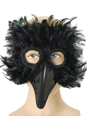 Bird Black Feather Mask