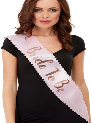 Bride To Be Sash, Pink & Rose Gold