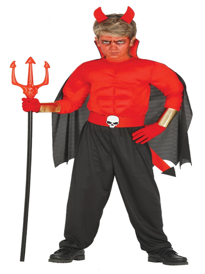 CHILD MUSCLE DEVIL COSTUME