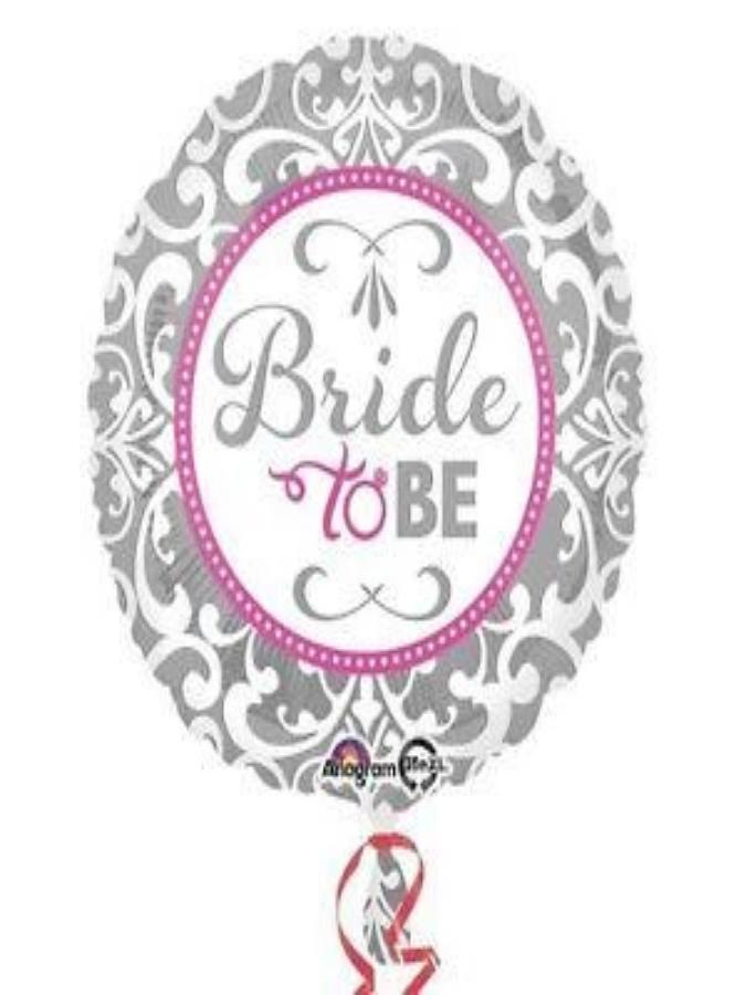"18"" Circle Foil Elegant Bride To Be Balloon"