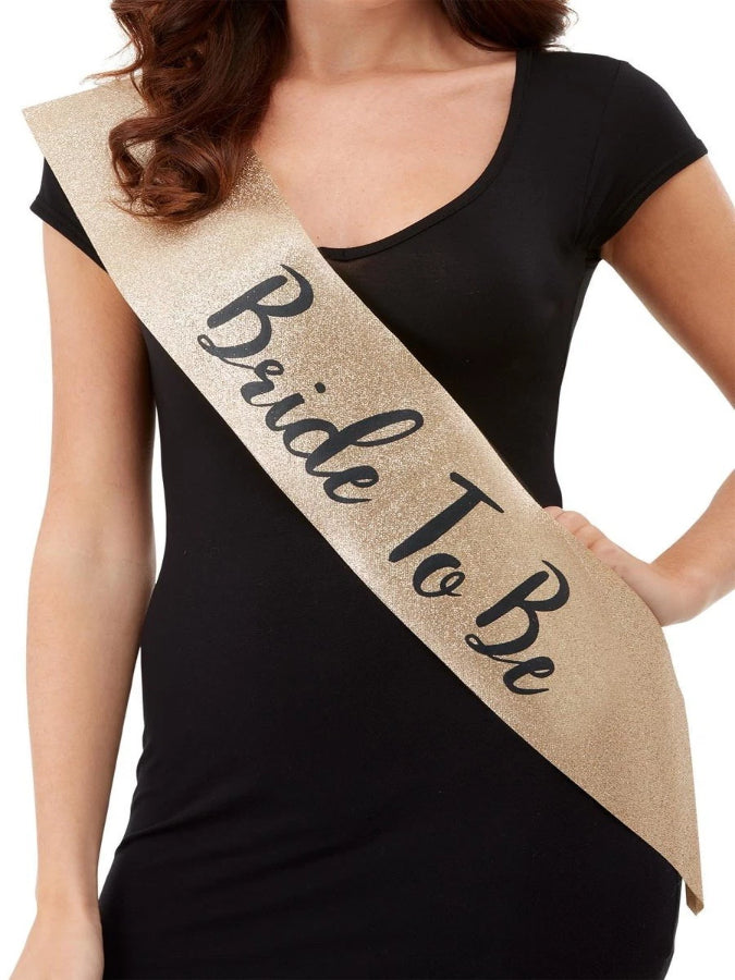 Deluxe Glitter Bride To Be Sash