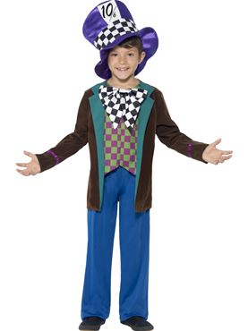 Deluxe Mad Hatter Kids Costume