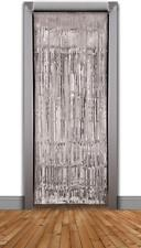 Doorway Curtain Silver Tinsel