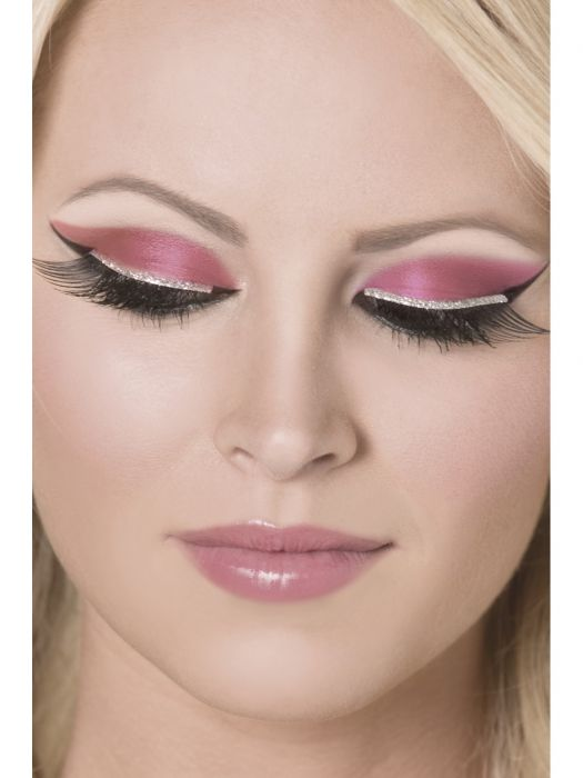 Eyelashes, Black, with Silver Glitter 30279