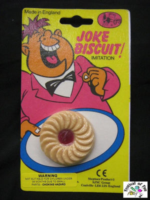 Fake Jammy Dodger Biscuits