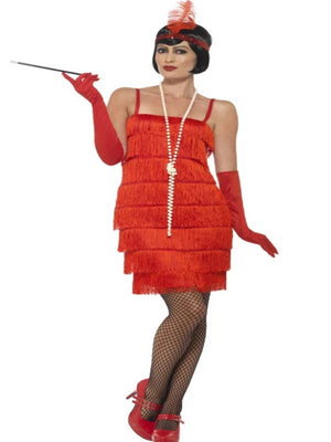 Flapper Costume Red