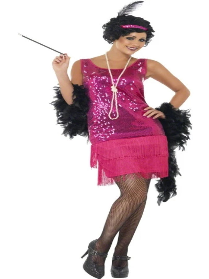 Fun Time Flapper Pink Costume