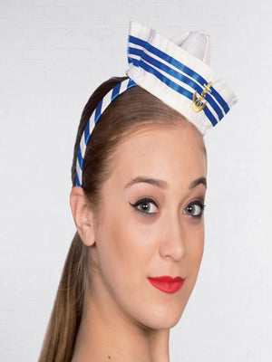Headband Hat Mini Sailor With stripes