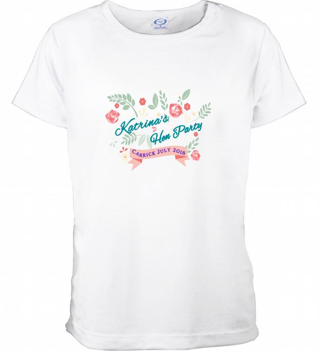 Personalised Vintage Style Hen Party TShirt